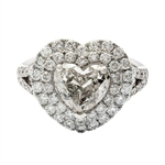 PLATINUM HEART DIAMOND UNITY RING 2.58 C.T.W.