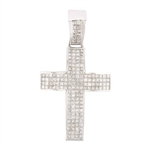14K DIAMOND CROSS PENDANT 6.72 C.T.W.
