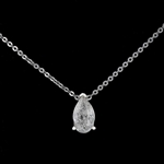 14K DIAMOND PENDANT WITH CHAIN 0.93 C.T.W.