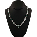 PLATINUM EMERALD AND DIAMOND NECKLACE 12.06 C.T.W.
