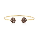 STERLING SILVER DIAMOND BANGLE/BRACELET WITH GOLD AND ANODIZED FINISH 0.51 C.T.W.