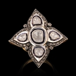SILVER AND 14K GOLD DIAMOND RING 0.57 C.T.W.