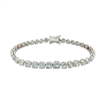 14K DIAMOND TENNIS BRACELET 9.03 C.T.W.