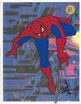 STAN LEE AUTOGRAPHED SPIDERMAN CELL