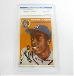1954 TOPPS HENRY AARON ROOKIE CARD, IGS GRADED NM-MT 8