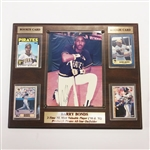 PITTSBURGH PIRATES BARRY BONDS SIGNED PLAQUE WITH ROOKIE CARDS