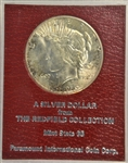 GEM BU 1926-S PEACE SILVER DOLLAR. MS65 REDFIELD COLLECTION