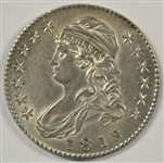 ULTRA SCARCE VIRTUAL MINT STATE 1818/7 CAPPED BUST HALF DOLLAR. FULLY STRUCK