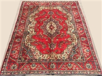 Authentic 1950s Handmade Vintage Royal Persian Tabriz
