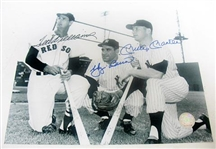 HAND SIGNED MANTLE, BERRA, & WILLIAMS 8X10, GFA