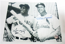 HAND SIGNED WILLIE MAYS AND STAN MUSIAL 8X10