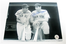 HAND SIGNED TED WILLIAMS AND JOE DIMAGGIO 8X10
