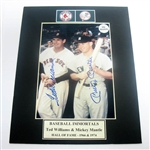HAND SIGNED MANTLE AND WILLIAMS 5X7 IN A 8X10 MATTED DISPLAY