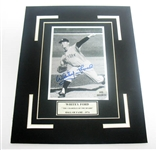 HAND SIGNED WHITEY FORD 4X6 IN A 8X10 MATTED DISPLAY