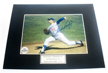 HAND SIGNED SANDY KOUFAX 5X7 IN A 8X10 MATTED DISPLAY