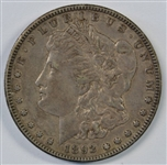 ABSOLUTELY PERFECT XF45+ 1892-S MORGAN SILVER DOLLAR. RARE KEY DATE