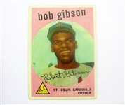 1959 TOPPS BOB GIBSON ROOKIE CARD