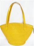LOUIS VUITTON EPI YELLOW TEXTURED LEATHER HANDBAG