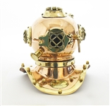 MINI SOLID COPPER AND BRASS DIVING HELMET