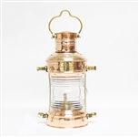 COPPER AND BRASS MARINE OIL LAMP