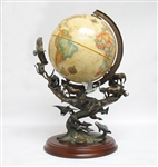 "RARE FRANKLIN MINT ""THE LIVING EARTH"" BRONZE WITH GLOBE"