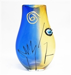 LARGE SDS SEAPOOT ABSTRACT ART GLASS VASE
