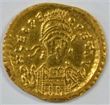 RARE NEAR MINT LEO I ROMAN GOLD SOLIDUS, 457-474 AD