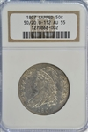 NEARLY BU 1807 CAPPED BUST HALF DOLLAR (50/20 O-112). NGC AU55
