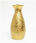 WEEPING GOLD 22K VASE
