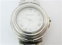 TIFFANY & CO. MENS STAINLESS INTAGLIO WATCH