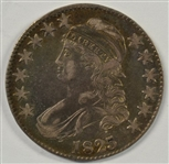 COLORFUL AND ATTRACTIVE 1825 CAPPED BUST HALF DOLLAR