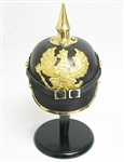 GERMAN PRUSSIAN WWI HELMET WITH STAND