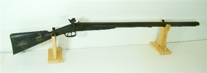 ANTIQUE DOUBLE BARREL BLACK POWDER SHOTGUN