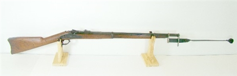 RARE 1873 SPRINGFIELD TRAPDOOR 45-70 TURNED TRAINING RIFLE IN 1902 COMPLETE WITH BAYONET