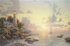 KINKADE *** SEA OF TRANQUILITY, SEASIDE MEMORIES V *** OFFSET LITHOGRAPH