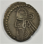 GREAT NEAR MINT PARTHIA SILVER DRACHM OF VOLOGASES IV, 147-191 AD