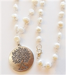 FRESHWATER PEARLS WITH TREE OF LIFE PENDANT