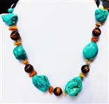 CHUNKY TURQUOISE NECKLACE