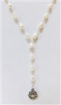 PEARL NECKLACE WITH STERLING SILVER NAUTICAL CHARM