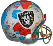 RARE 1994 SIGNED ORIGINAL PETER MAX ART DECORATED RAIDERS HELMET