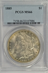 AWESOME PCGS MS66 GRADED 1885 MORGAN SILVER DOLLAR!