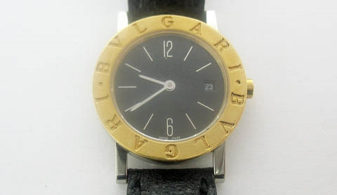 18K AND STAINLESS BVLGARI LADIES WATCH