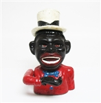 CAST IRON BLACK AMERICANA MECHANICAL BANK