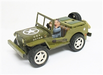 COLLECTIBLE WIND UP JEEP TIN TOY