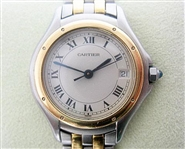 CARTIER COUGAR LADIES 18K & STAINLESS WATCH