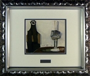 PICASSO *BOTTLE AND GLASS*Framed Collector's RARE Lithograph