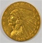 GREAT-LOOKING BU 1911 US $2.50 INDIAN GOLD PIECE