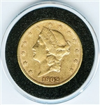 VERY COLLECTIBLE 1902 S $20 LIBERTY GOLD COIN