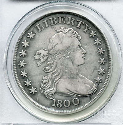 VERY SCARCE 1800 DRAPED BUST SILVER DOLLAR