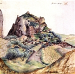 ALBRECHT DURER ** MOUNTAIN AND CITY OF ARCO